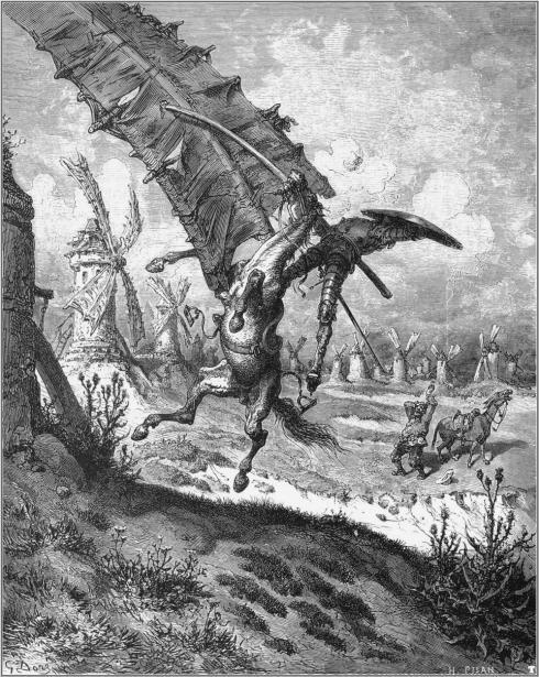 Dom Quixote em plena ação!